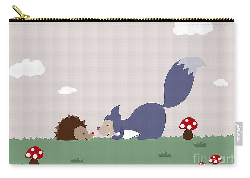Forest Friends Carry-all Pouch featuring the photograph Say Yes To New Adcentures by Kathrin Legg