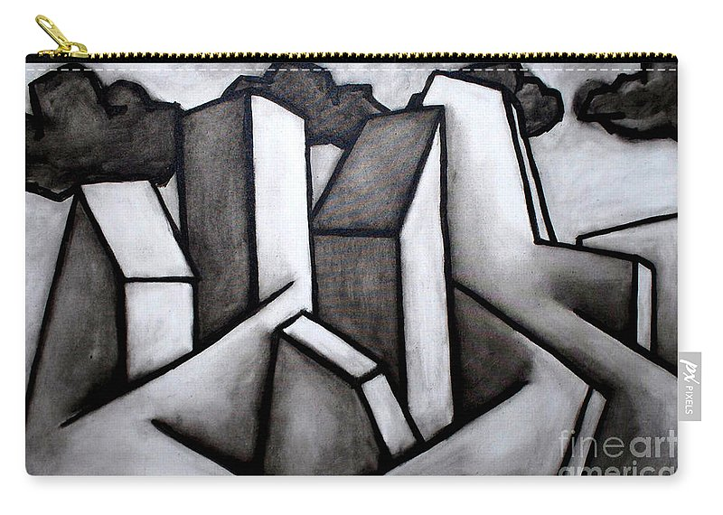 Absract Carry-all Pouch featuring the painting Scape by Thomas Valentine