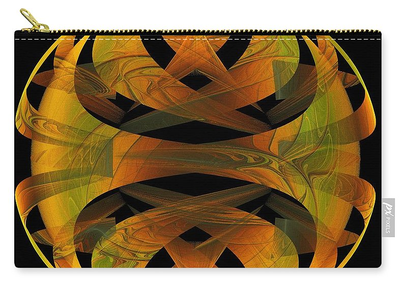Digital Art Carry-all Pouch featuring the digital art Scarab by Amanda Moore
