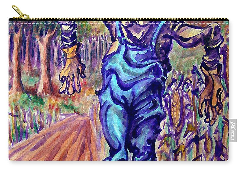 Scarecrow Carry-all Pouch featuring the painting Scarecrow by Kevin Middleton