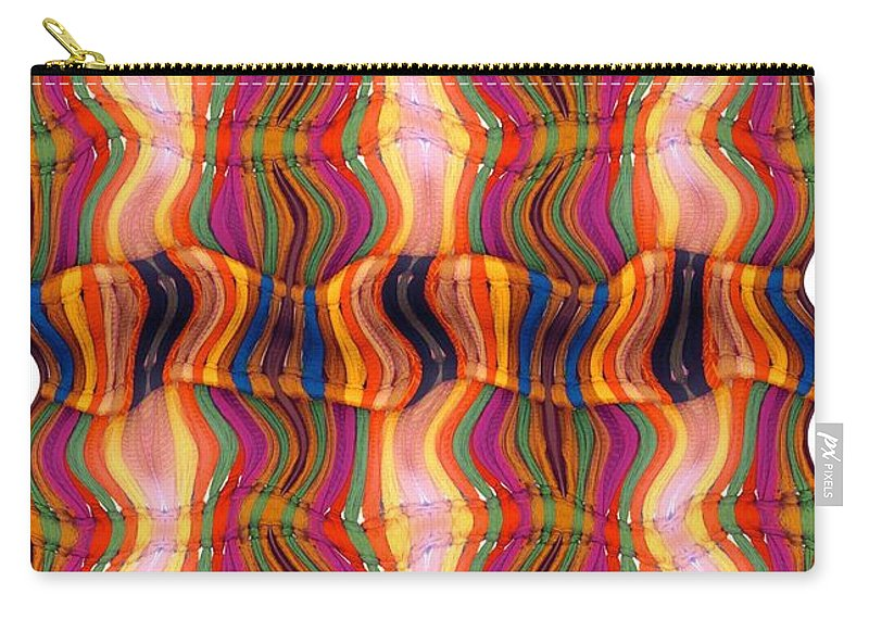 Abstract Carry-all Pouch featuring the digital art Scarf It Up by Ron Bissett