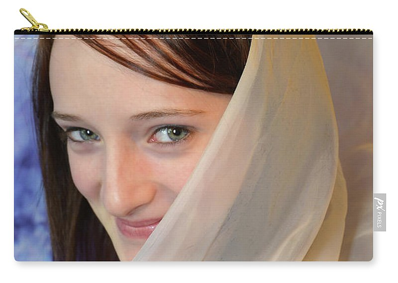 Girl Carry-all Pouch featuring the photograph Scarf by Michael Brown
