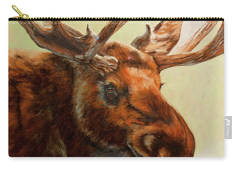 Alaska Art Carry-all Pouch featuring the painting Scarface by Dan Twitchell