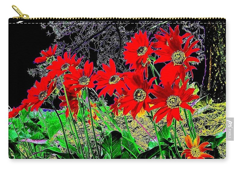 Abstract Carry-all Pouch featuring the digital art Scarlet Night by Will Borden