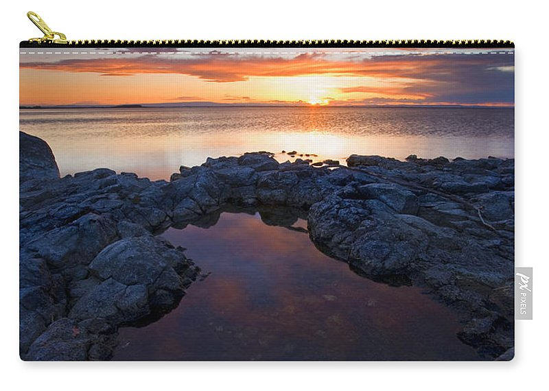 Potholes Carry-all Pouch featuring the photograph Scarlet Pools by Mike Dawson