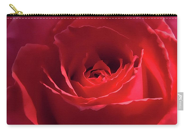 Rose Carry-all Pouch featuring the photograph Scarlet Rose Flower by Jennie Marie Schell