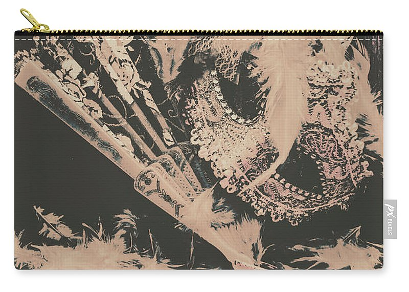 Wild West Carry-all Pouch featuring the photograph Scene From A Country And Western Cabaret by Jorgo Photography - Wall Art Gallery