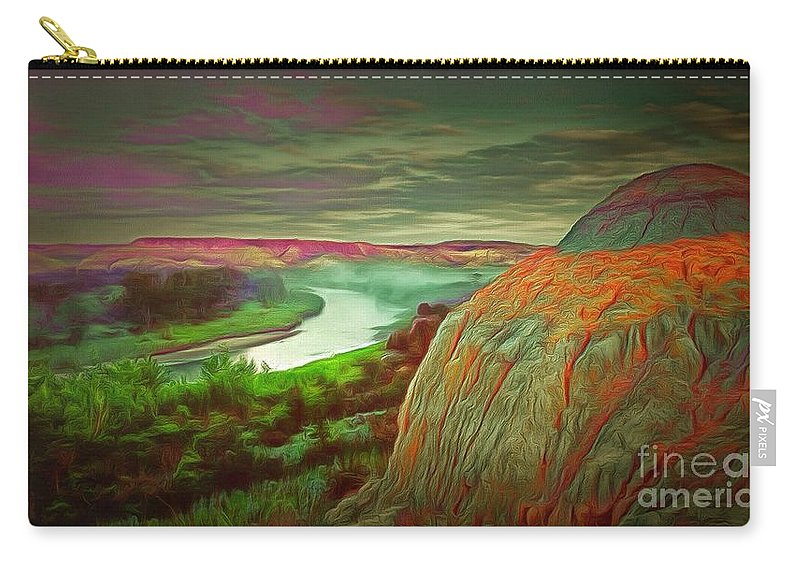 Scene In Ambiance Carry-all Pouch featuring the painting Scene In Ambiance by Catherine Lott