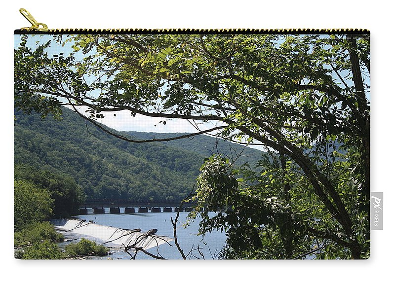 Dec 25 2009 Carry-all Pouch featuring the photograph Scenery by Teresa Doran