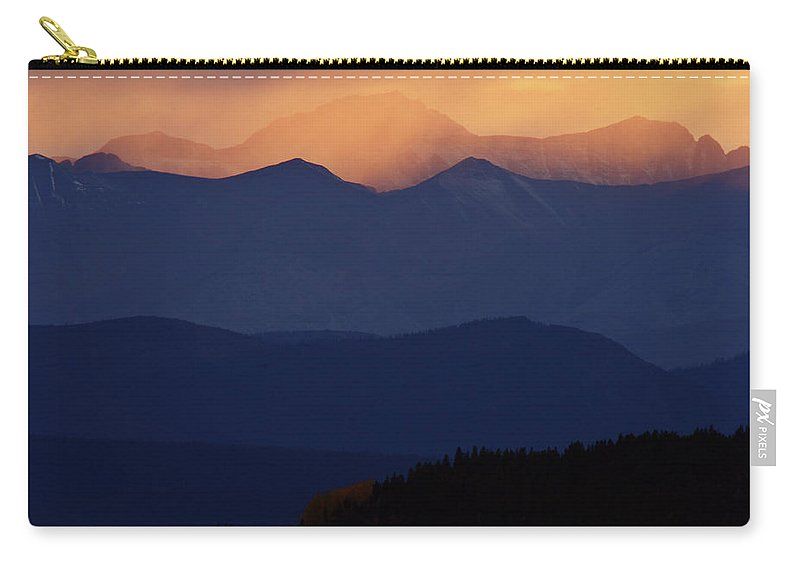Mountains Carry-all Pouch featuring the digital art Scenic Northern Rockies Of British Columbia by Mark Duffy