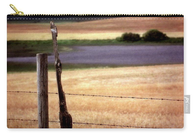 Carry-all Pouch featuring the digital art Scenic Saskatchewan Landscape by Mark Duffy