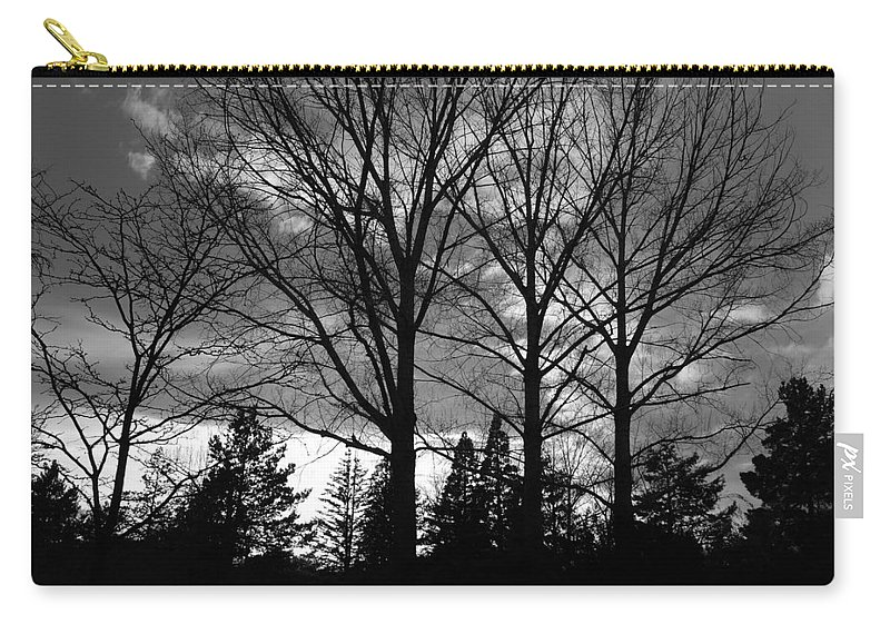 Black And White Carry-all Pouch featuring the photograph Scenic State Capital by Rob Hans