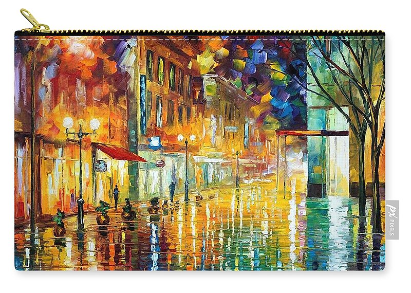 Afremov Carry-all Pouch featuring the painting Scent Of Rain by Leonid Afremov