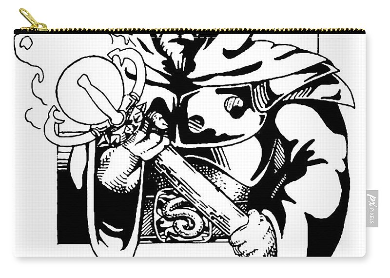 Sceptre Carry-all Pouch featuring the drawing Sceptre by John Haldane