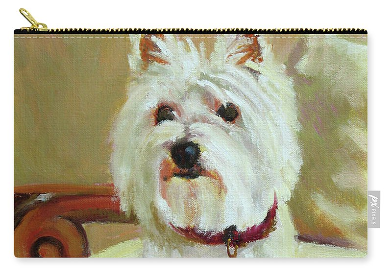 Pet Carry-all Pouch featuring the painting Schatzie by Keith Burgess