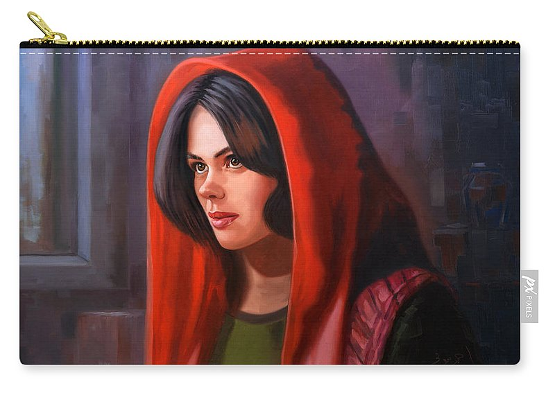 Scheherazade  Carry-all Pouch featuring the painting Scheherazade  by Ahmed Bayomi