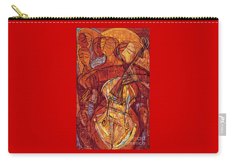 Cello Carry-all Pouch featuring the painting Scherzo by Emanuel Vardi