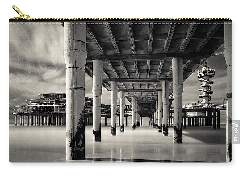 Scheveningen Pier Carry-all Pouch featuring the photograph Scheveningen Pier 3 by Dave Bowman