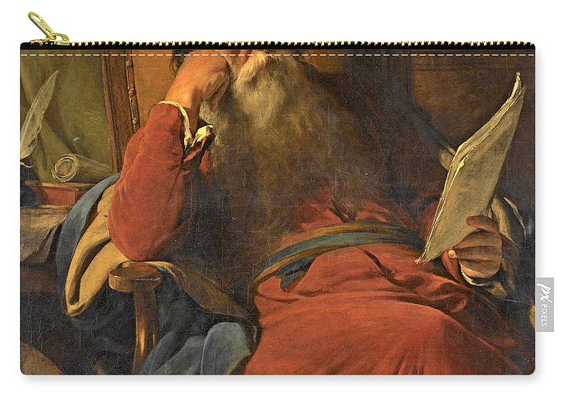 Friedrich Von Amerling Carry-all Pouch featuring the painting Scholar In His Study by Friedrich von Amerling