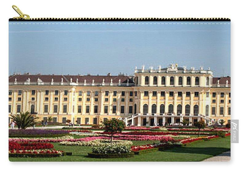 Schonbrunn Palace Hapsburg Vienna Austria Castle Garden Carry-all Pouch featuring the photograph Schonbrunn Palace And Gardens by Thomas Marchessault