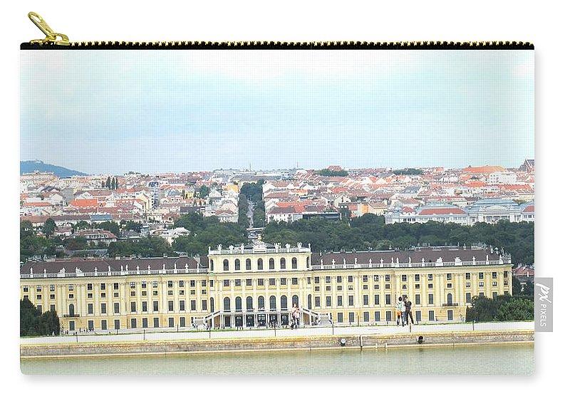 Schonbrunn Carry-all Pouch featuring the photograph Schonbruun Castle by Ian MacDonald