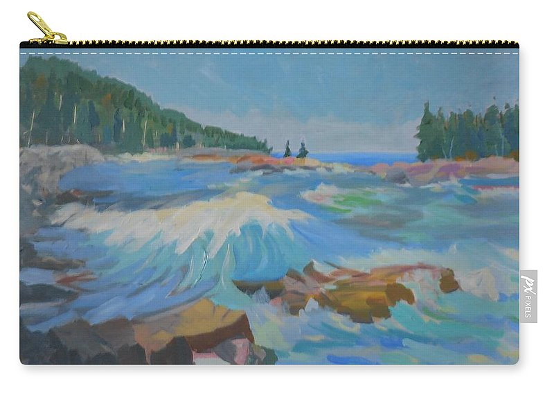 Landscape Carry-all Pouch featuring the painting Schoodic Inlet by Francine Frank