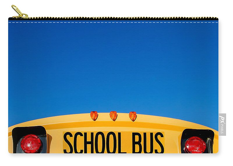School Bus Carry-all Pouch featuring the photograph School Bus Top by Todd Klassy