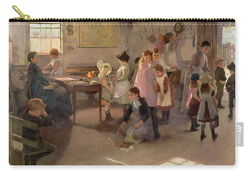 School Is Out Carry-all Pouch featuring the painting School Is Out by Elizabeth Adela Stanhope Forbes