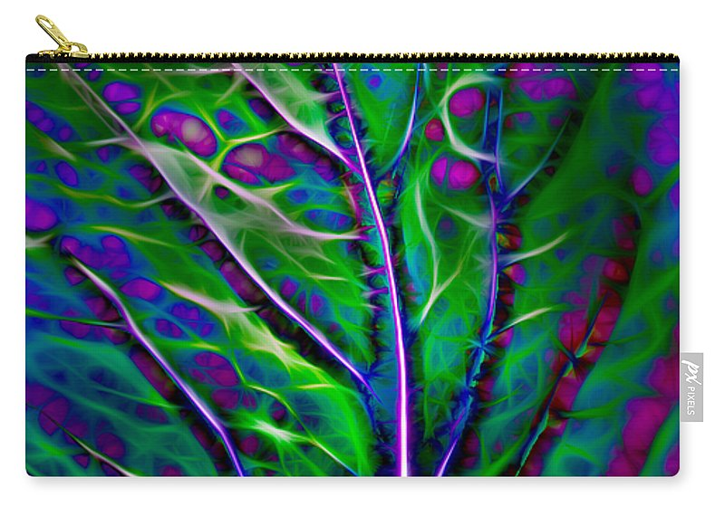 Hakon Carry-all Pouch featuring the photograph Scintillating Leaf by Hakon Soreide