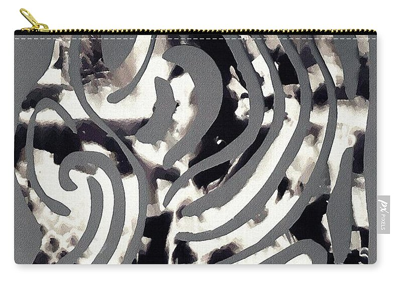 Curve Carry-all Pouch featuring the mixed media Scissor-cut Abstraction by Sarah Loft