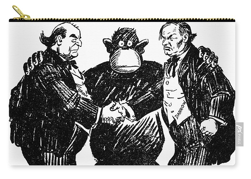 Scopes Trial Cartoon 1925 Carry All Pouch For Sale By Granger