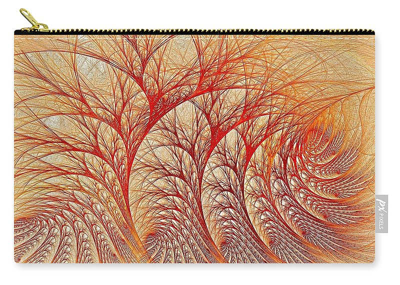 Fractal Abstract Carry-all Pouch featuring the digital art Scorched by Doug Morgan