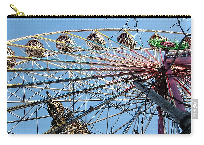 Scot Monument Carry-all Pouch featuring the photograph Scot Monument Edinburgh by Heather Lennox