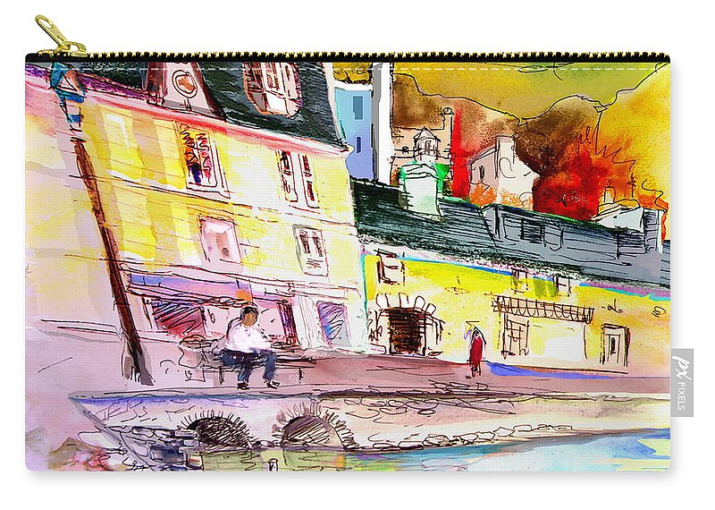 Scotland Paintings Carry-all Pouch featuring the painting Scotland 04 by Miki De Goodaboom