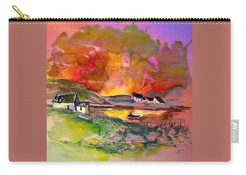 Scotland Paintings Carry-all Pouch featuring the painting Scotland 07 by Miki De Goodaboom