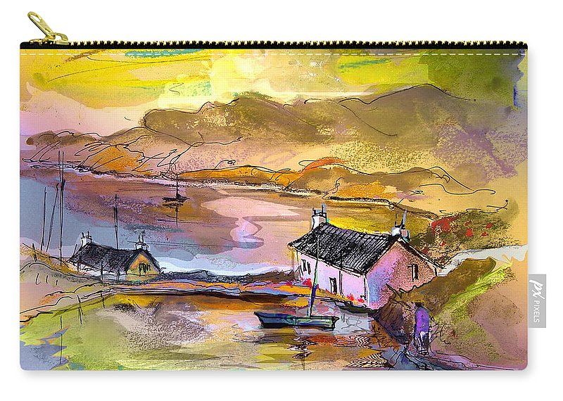 Scotland Paintings Carry-all Pouch featuring the painting Scotland 11 by Miki De Goodaboom