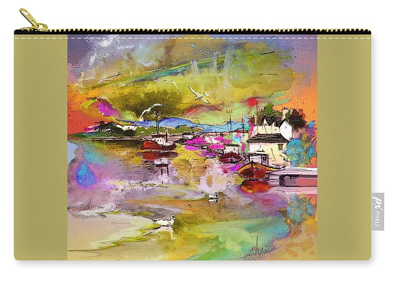 Scotland Paintings Carry-all Pouch featuring the painting Scotland 13 by Miki De Goodaboom