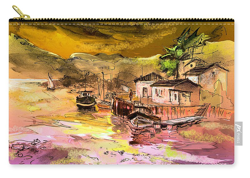 Scotland Paintings Carry-all Pouch featuring the painting Scotland 14 by Miki De Goodaboom