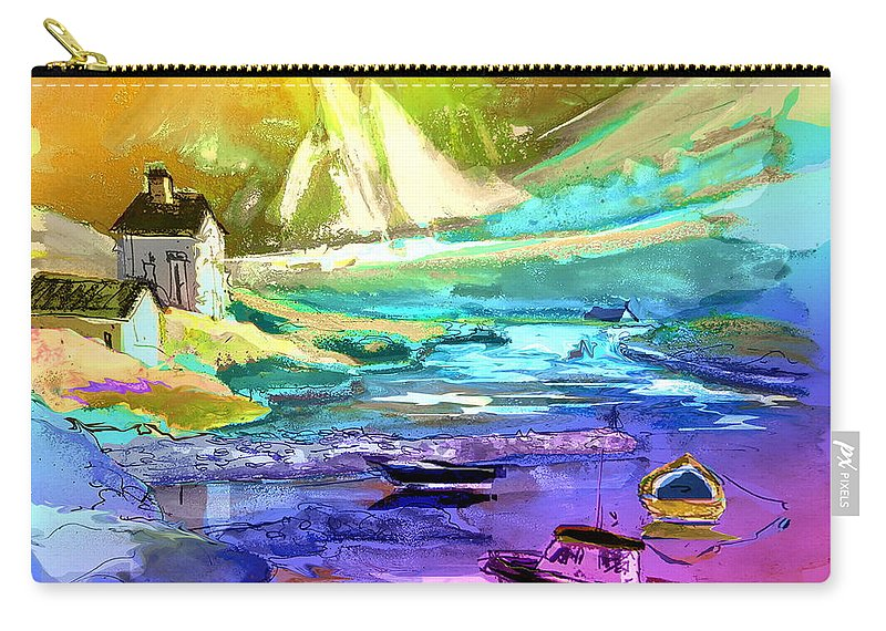 Scotland Paintings Carry-all Pouch featuring the painting Scotland 15 by Miki De Goodaboom