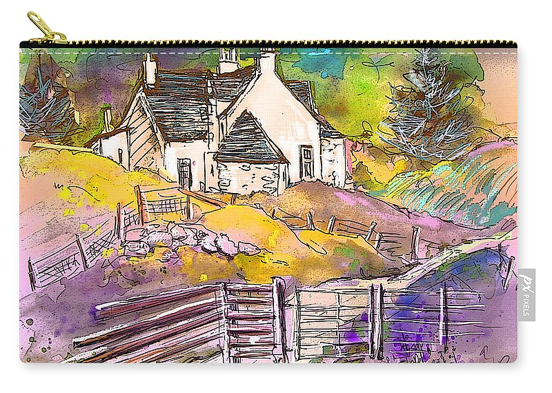 Scotland Paintings Carry-all Pouch featuring the painting Scotland 16 by Miki De Goodaboom