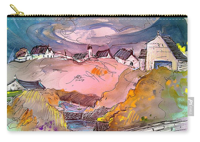 Scotland Paintings Carry-all Pouch featuring the painting Scotland 17 by Miki De Goodaboom