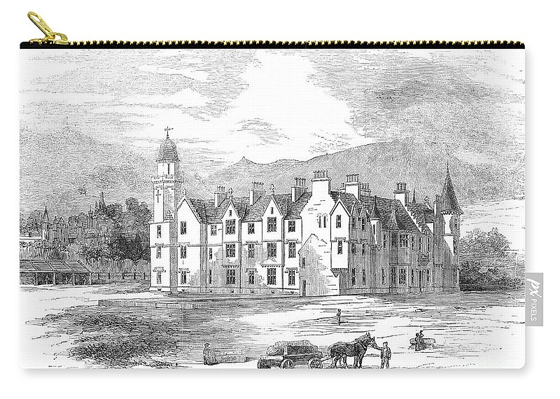 1854 Carry-all Pouch featuring the photograph Scotland: Balmoral Castle by Granger