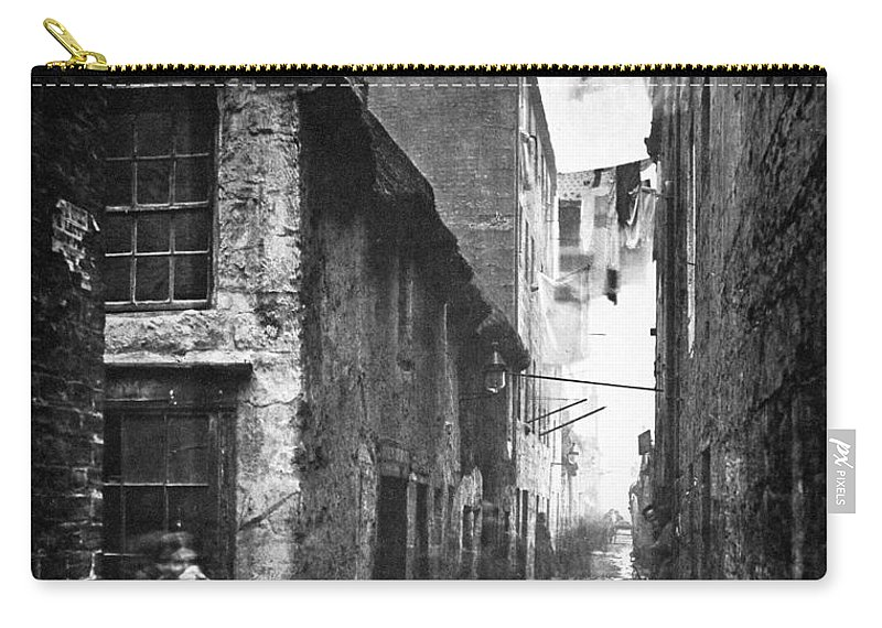 1868 Carry-all Pouch featuring the photograph Scotland: Glasgow, 1868 by Granger