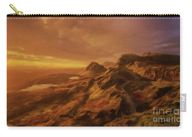Landscape Carry-all Pouch featuring the painting Scotland, My Home by Sarah Kirk