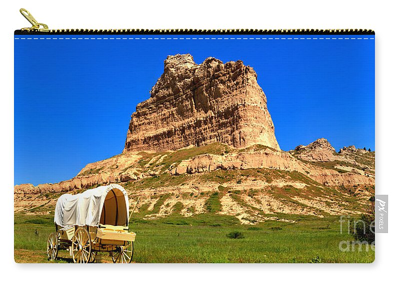 Scotts Bluff Carry-all Pouch featuring the photograph Scots Bluff National Monument by Adam Jewell