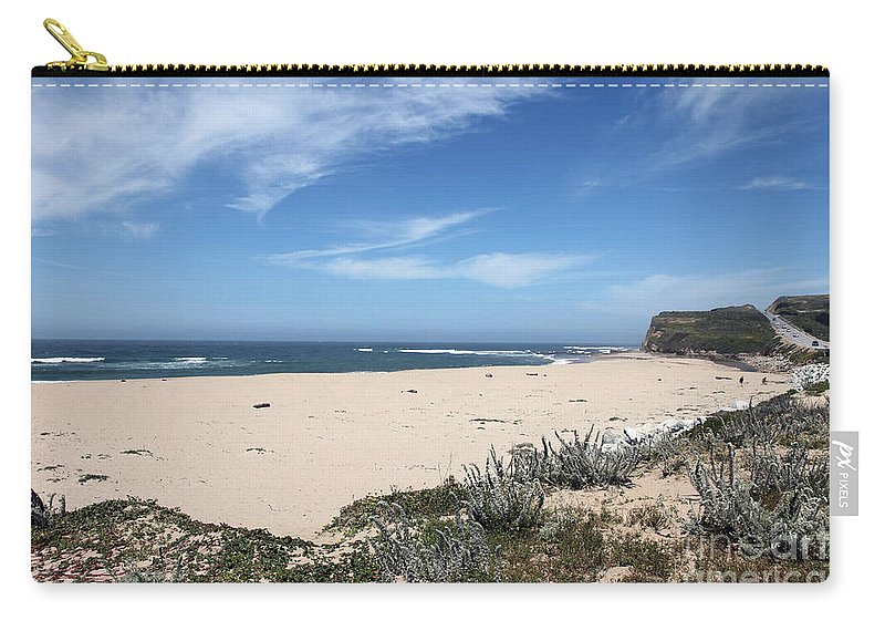 Beaches Carry-all Pouch featuring the photograph Scott Creek Beach Hwy 1 by Amanda Barcon