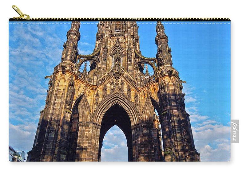 Europe Carry-all Pouch featuring the photograph Scott Monument, Edinburgh, Scotland by Karol Kozlowski