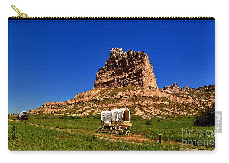 Scotts Bluff Carry-all Pouch featuring the photograph Scotts Bluff Large Panorama by Adam Jewell