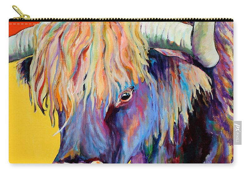 Farm Animal Carry-all Pouch featuring the painting Scotty by Pat Saunders-White