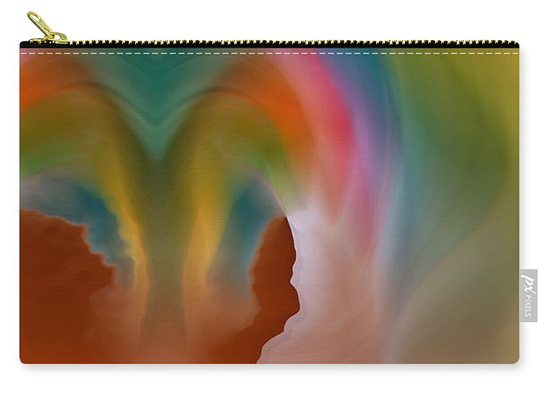 Abstract Art Carry-all Pouch featuring the digital art Scream by Linda Sannuti